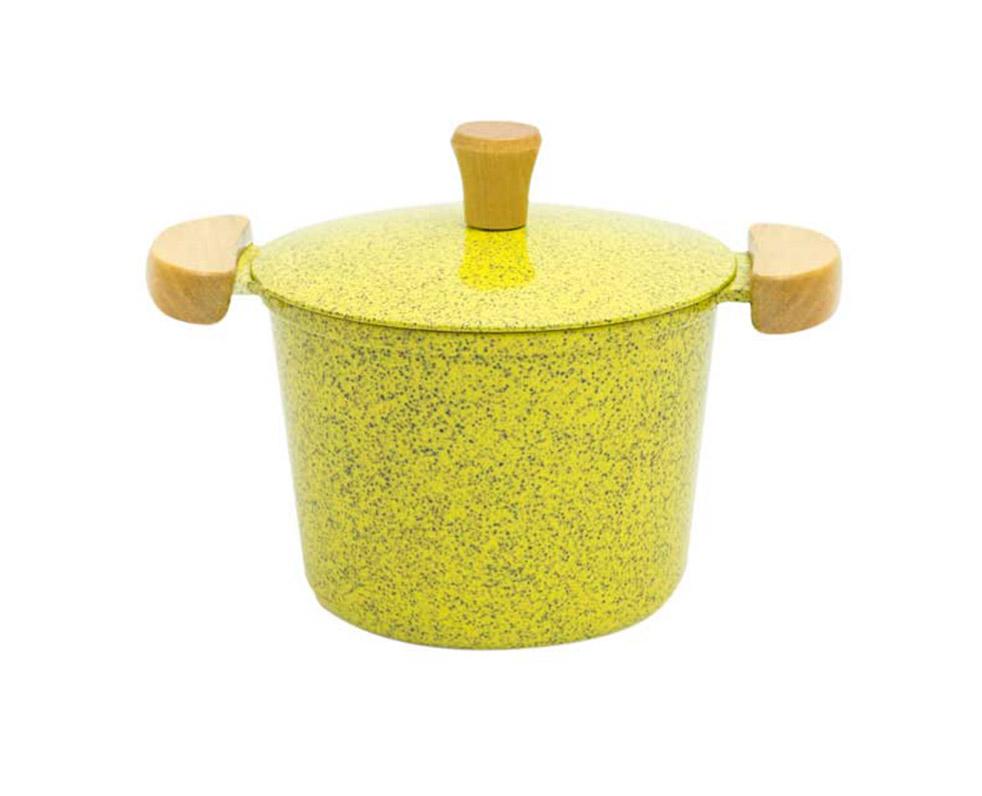 Caldeirão Alumínio Fundido - Amarelo Mesclado