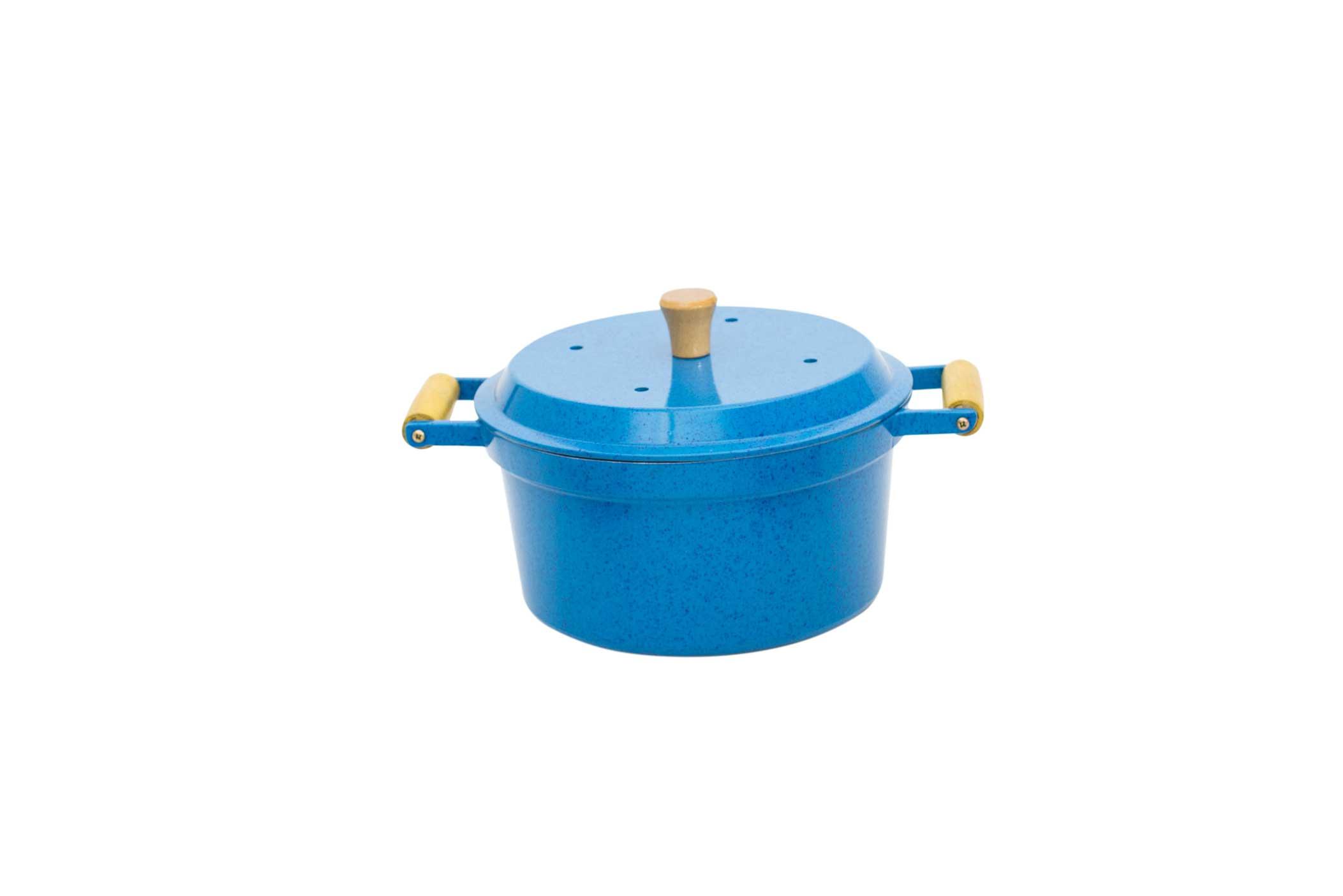 Caçarola Mágica 3 em 1 AlumÍnio Fundido - Azul Mesclado