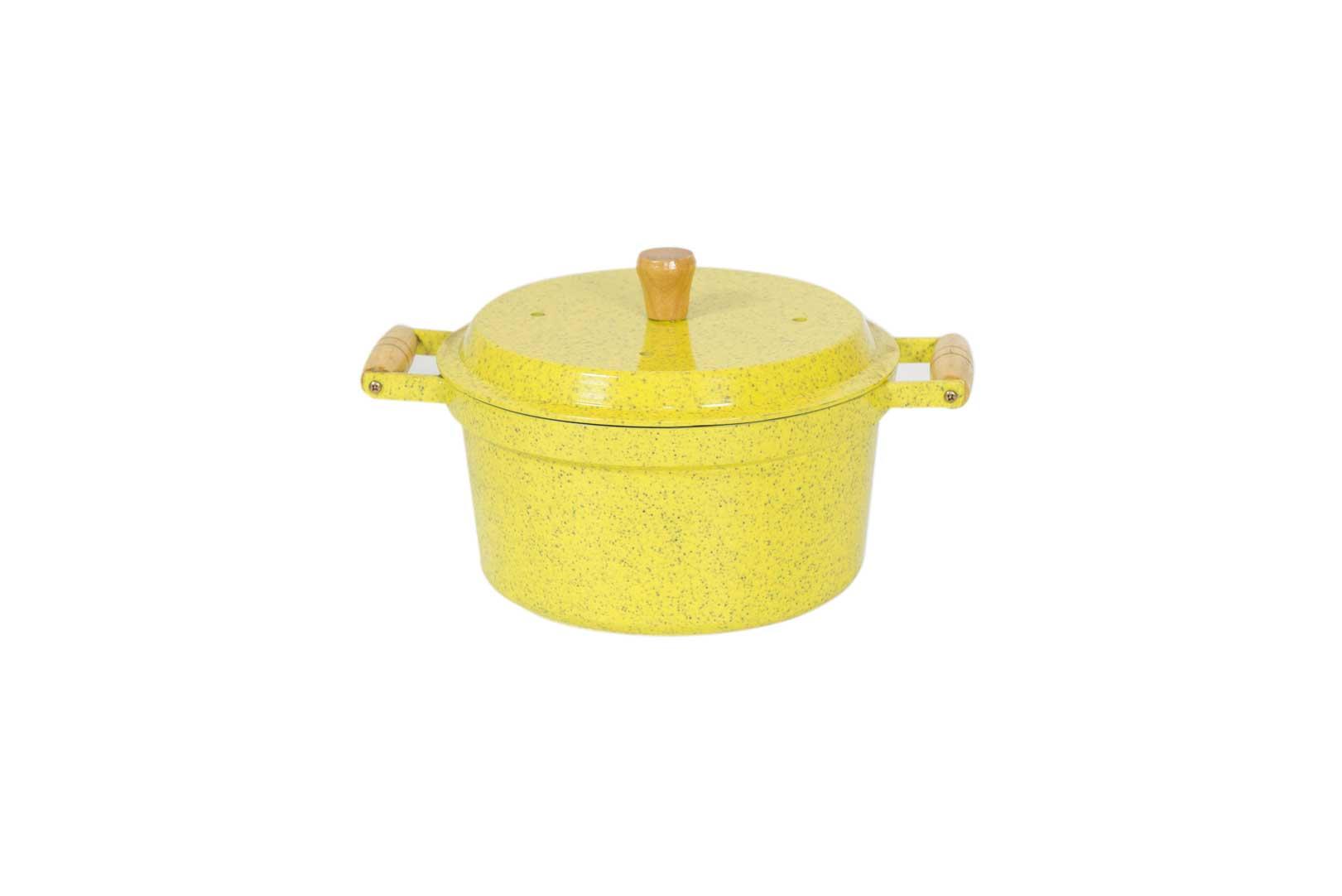 Caçarola de Aluminío Batido 3 em 1 - Amarelo Mesclado