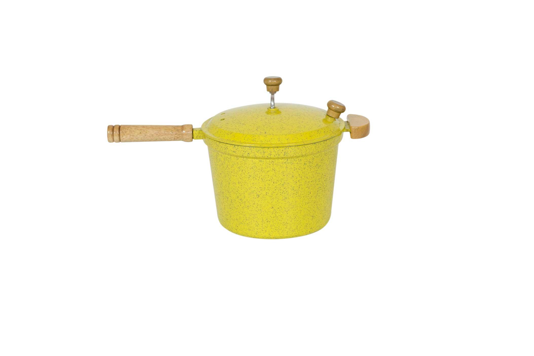 Pipoqueira Alumínio Fundido - Amarelo Mesclado
