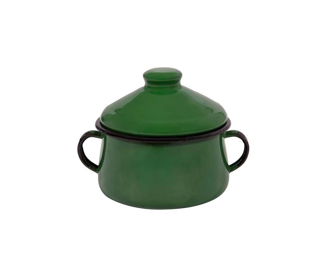 Açucareiro Esmaltado Verde