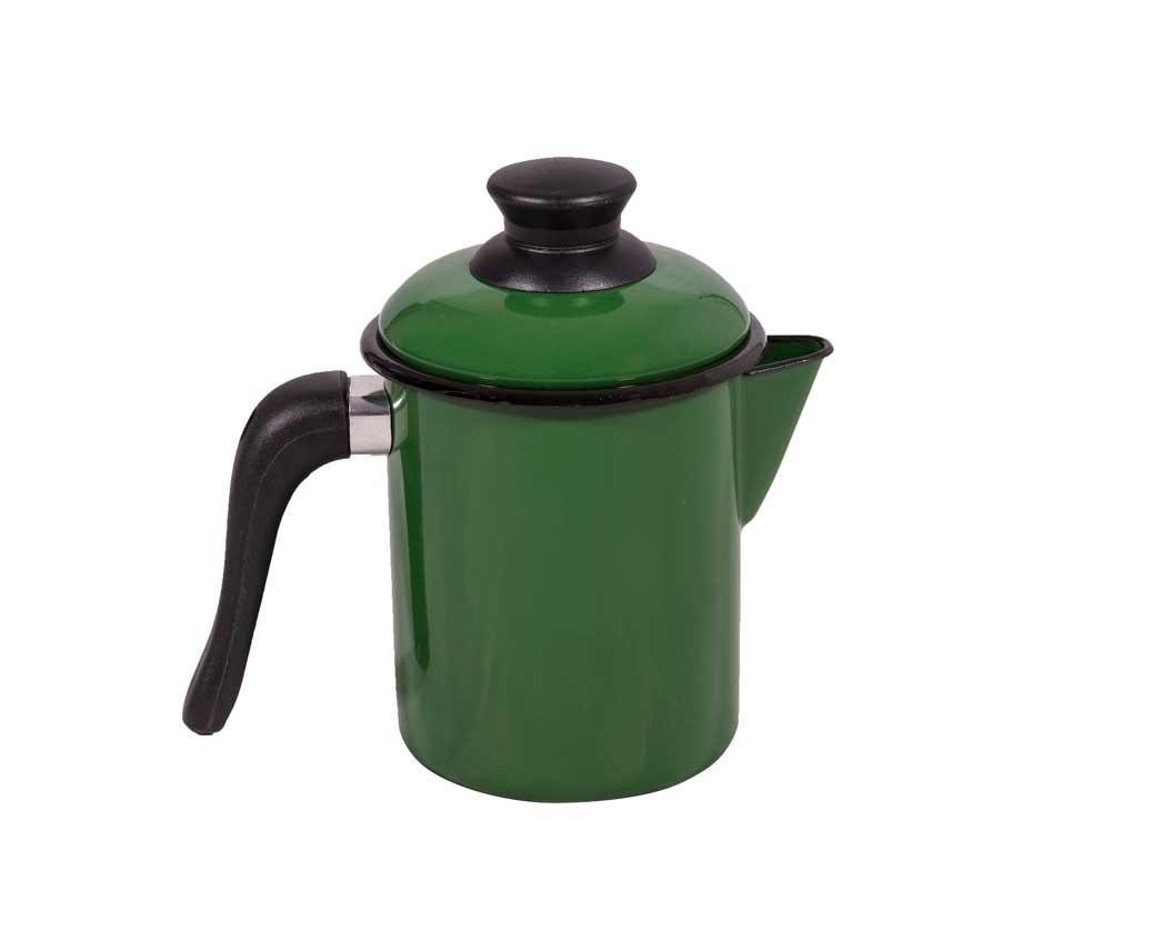 Leiteira Esmaltada Verde
