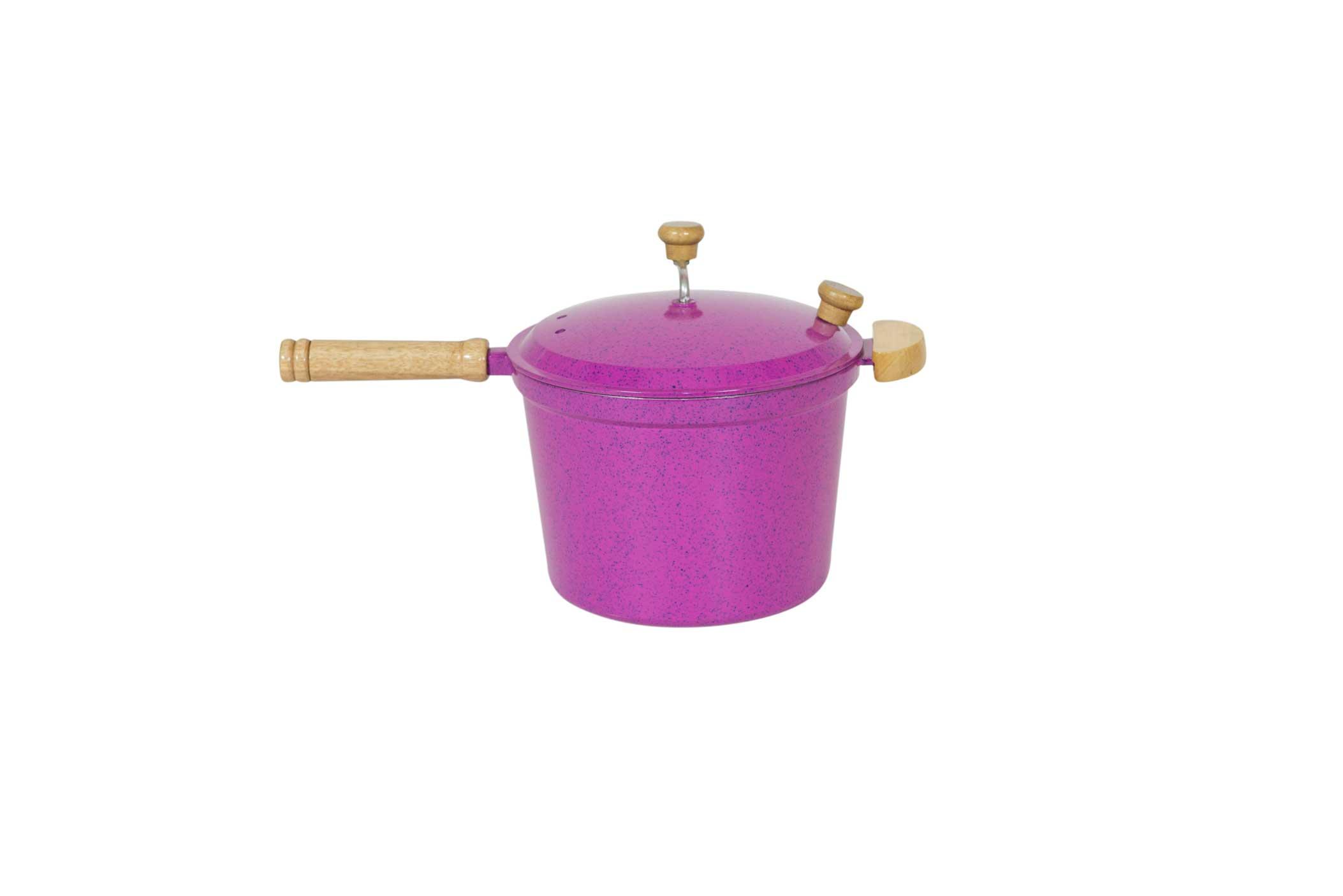 Pipoqueira Alumínio Fundido - Pink Mesclado