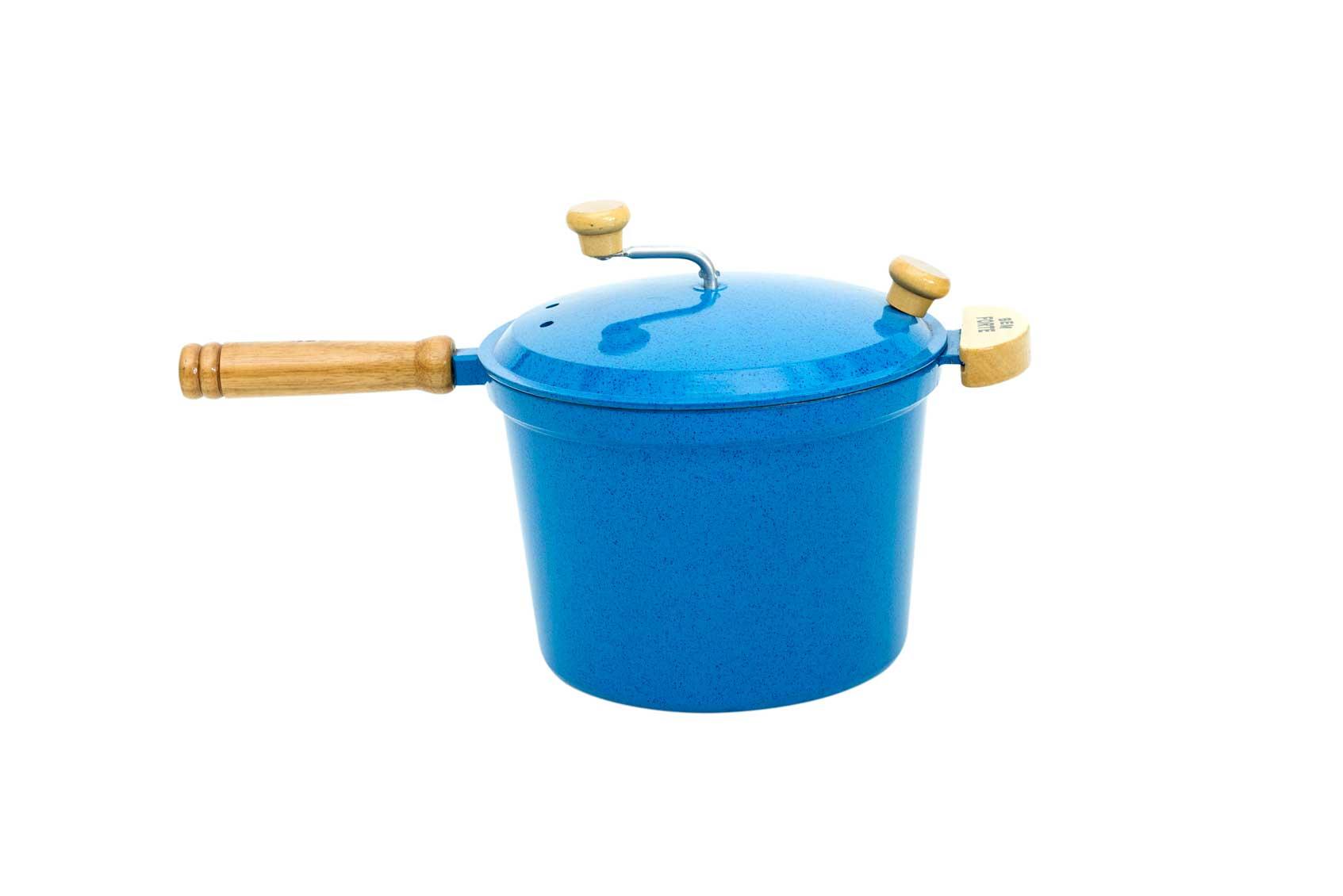 Pipoqueira Alumínio Fundido - Azul Mesclado