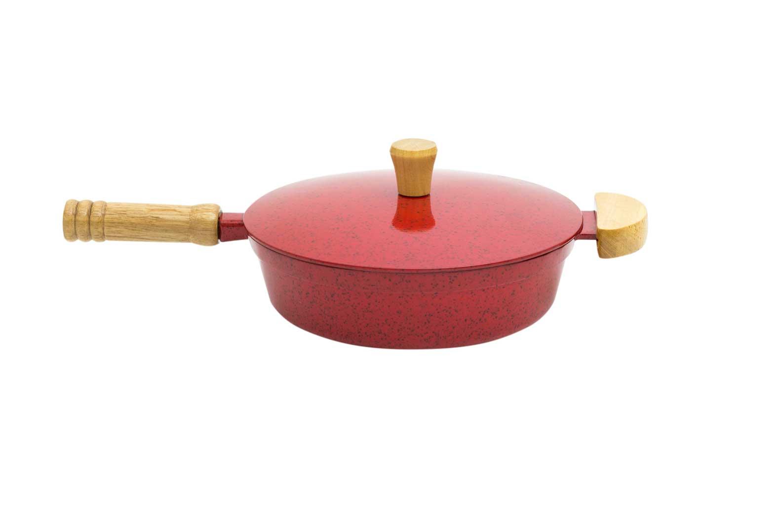 Frigideira Alumínio Fundido - Vermelho Mesclado